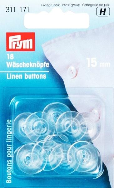 Prym - Wäscheknöpfe Kunststoff 15mm