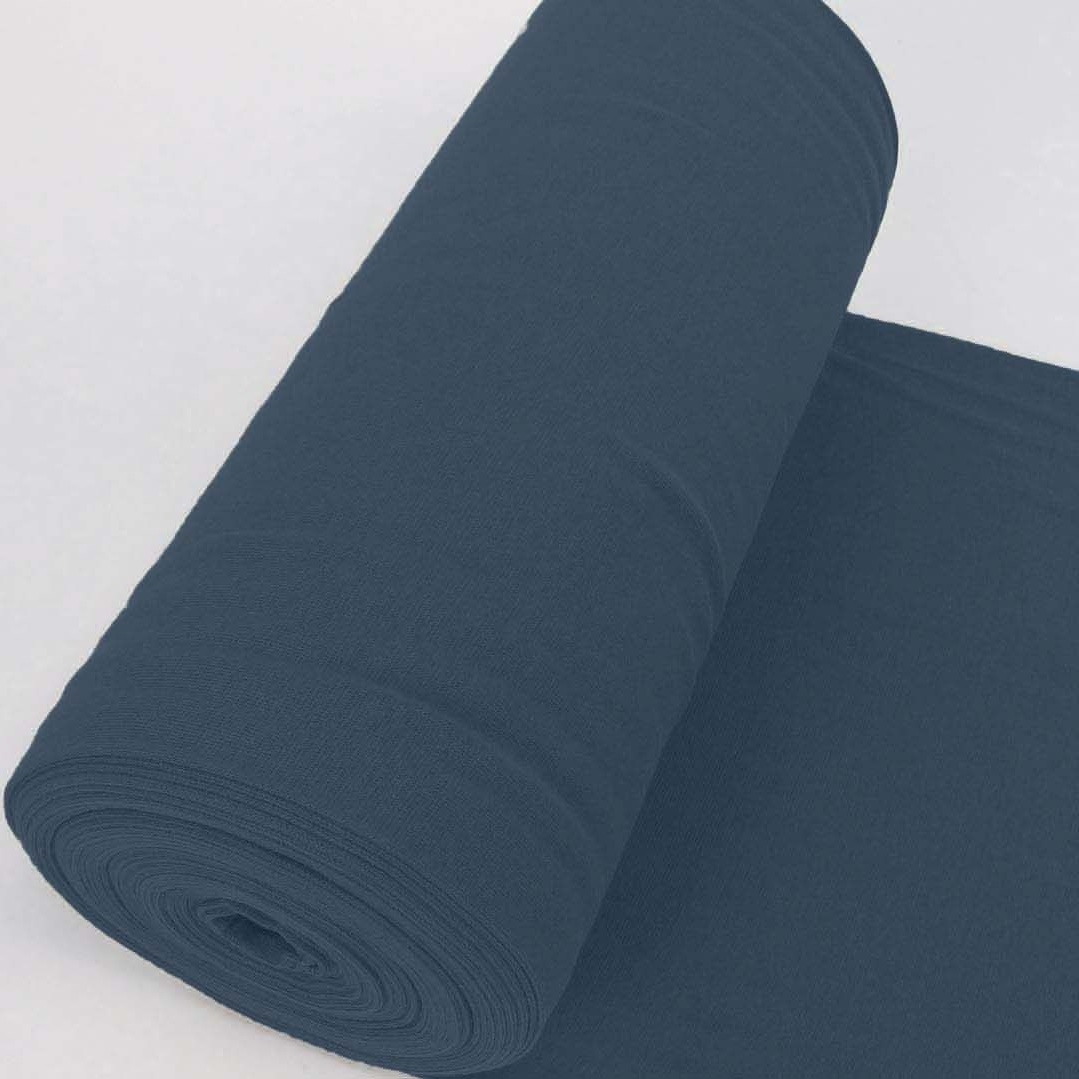Bündchen Stoff Feinripp Uni - Royalblau
