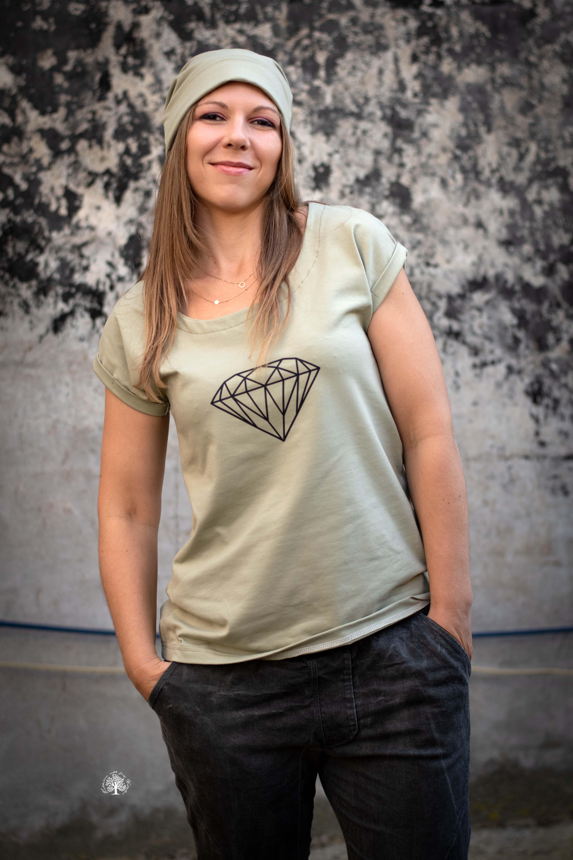 Plott zum Aufbügeln - Bügelbild - Diamant - Schwarz - 15cm x 10,5cm
