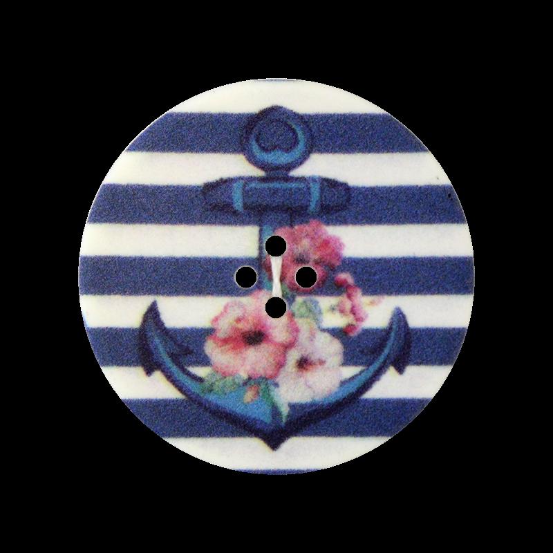 Knopf - Knöpfe - Öse - Maritim - Anker - 23mm - 1 Stück