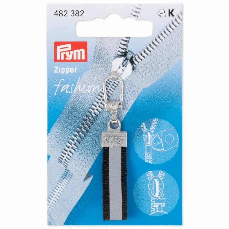 Prym Fashion Zipper - reflektierend - schwarz -482382