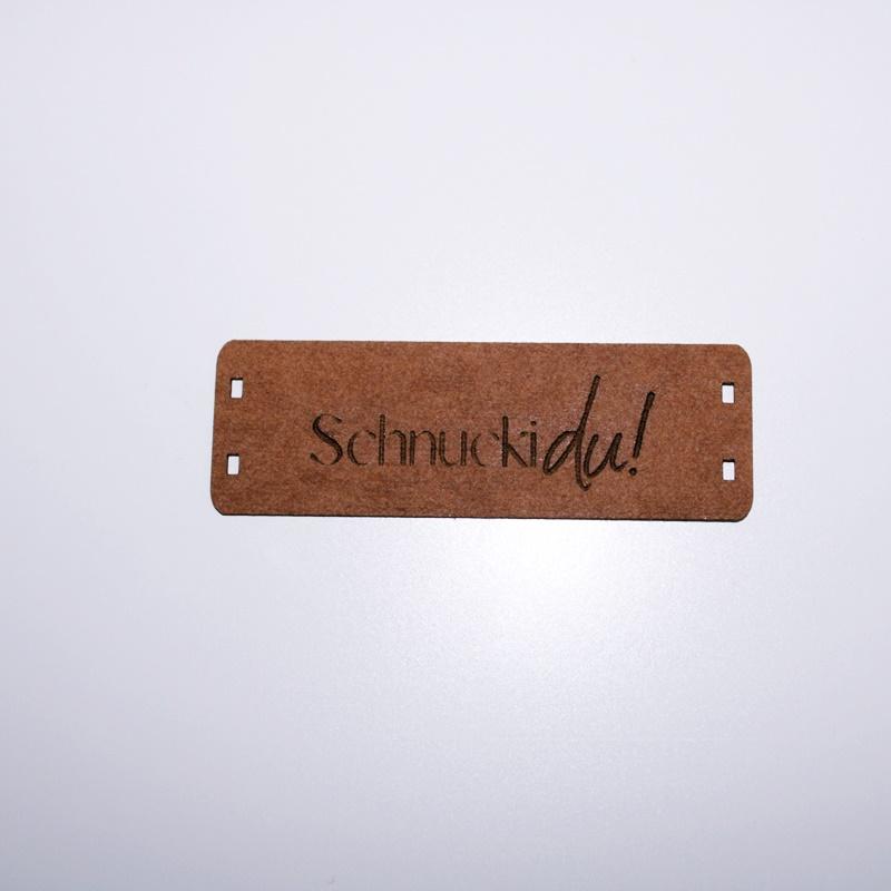"""Schnuckidu  - Label zum Annähen - SnapPap - Schriftzug - """"Schnucki du!"""