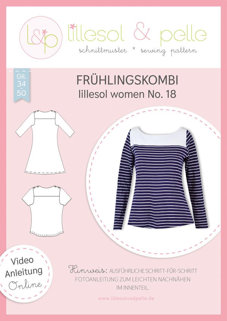 Papierschnittmuster lillesol women No.18 Frühlingskombi Kleid & Shirt