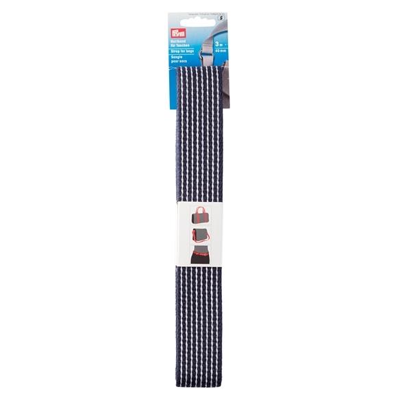 Prym - Gurtband für Taschen 40 mm blau/weiß gestreift 965203