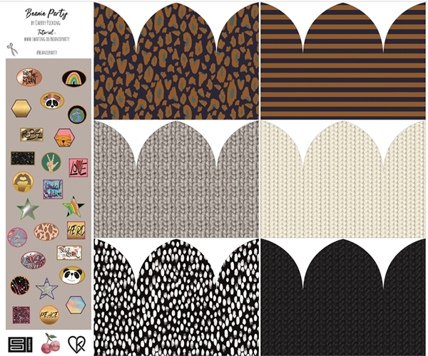 Modal French Terry - Sommersweat Stoff - Panel - Beanie Party vom Cherry Picking – Beanie DIY Set