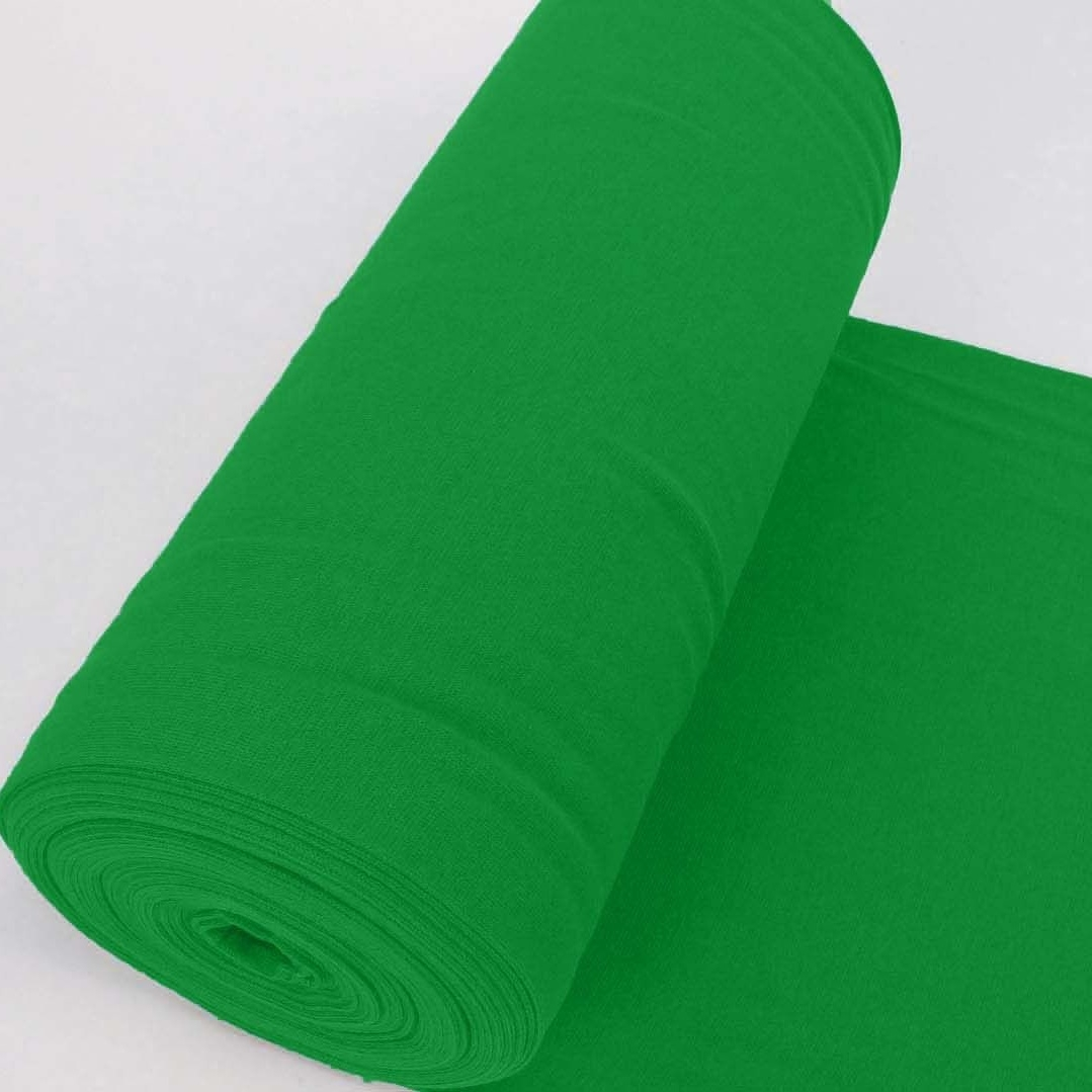 Bündchen Stoff Feinripp Uni - Grün