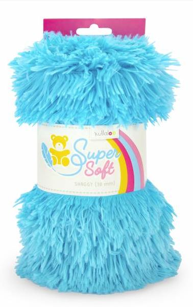Kullaloo - Super Soft Plüschstoff - Shaggy 20mm - Türkis