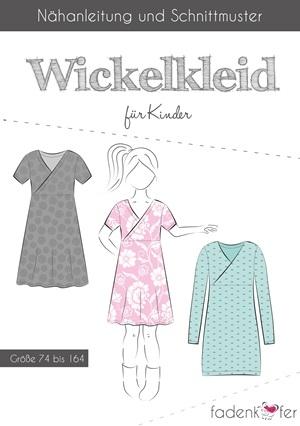 Papierschnittmuster Fadenkäfer - Wickelkleid für Kinder