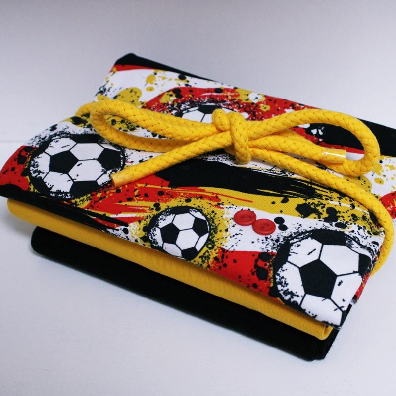 Stoffpaket - Unikat - Fußball - Gelb/Rot