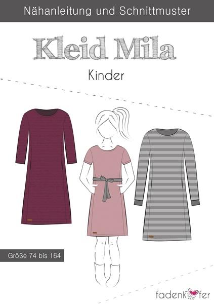 "Papierschnittmuster Fadenkäfer - Kleid ""Mila"" - Kinder"