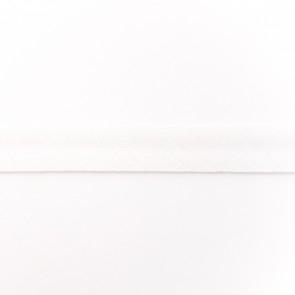 Baumwoll Schrägband für Facies kochfest, nahtlos weiß 40/20 mm gefalzt - 50 Meter auf der Rolle