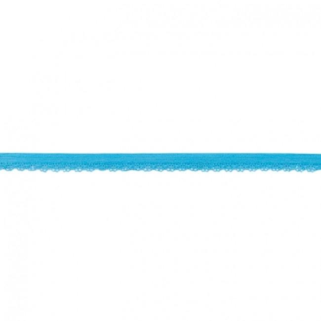 Elastische Spitze mit Bogenkante - 11 mm - Aqua