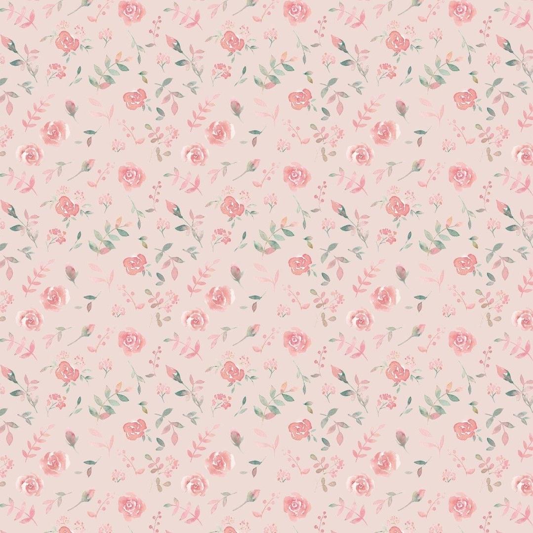 Baumwolljersey - Jersey Stoff - Motivjersey - Digitaldruck - Kleine Rosen auf Rose