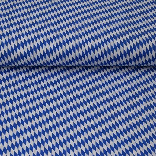 Baumwolle - Baumwoll Stoff - Bayern Raute - Blau und Weiß