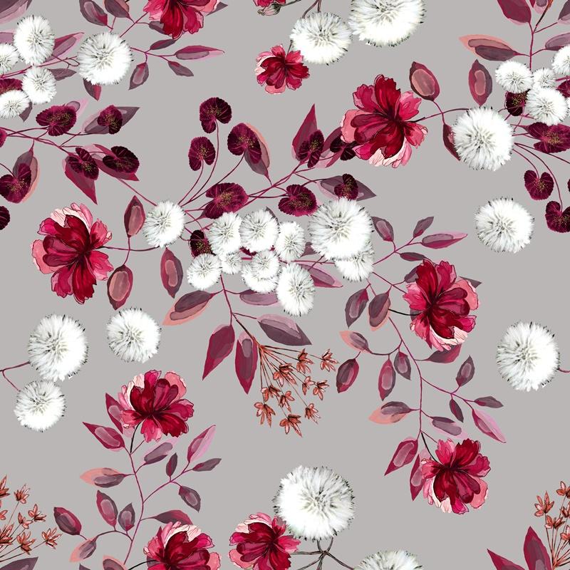 Baumwolljersey - Red Dandelion - Schnuckidu Eigenproduktion