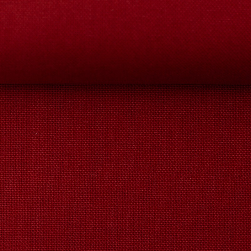Canvas - Dekostoff - Leinenoptik - Swafing - Calvin - Uni - Dunkelrot