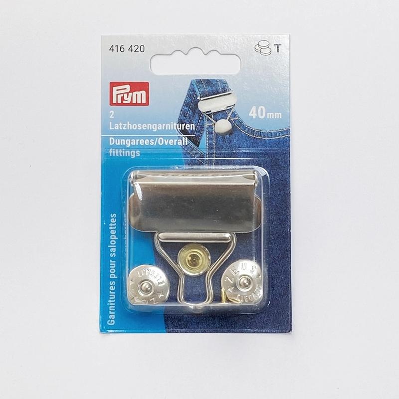 Prym - Latzhosengarnituren, 40mm, silberfarbig 416420