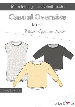 Papierschnittmuster Fadenkäfer - Shirt - Casual Oversize für Damen