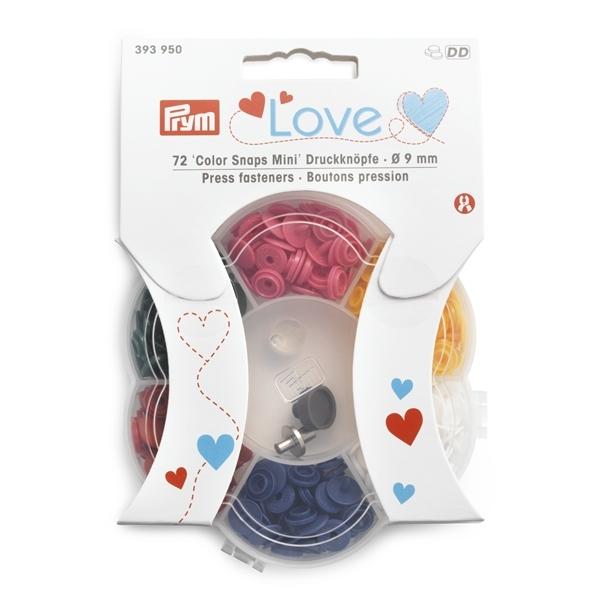 Prym Love - Druckknöpfe 'Color Snaps Mini' inkl. Werkzeug - 9mm - 393950