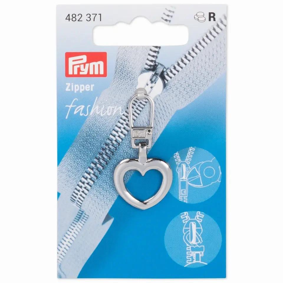 Prym Fashion Zipper - Herz - silberfarbig - 482371