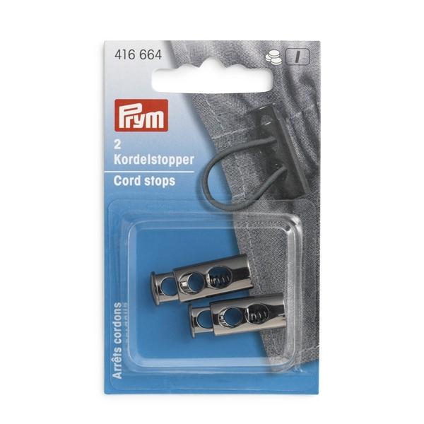 Prym - Kordelstopper. 2-Loch. gunmetal 416664
