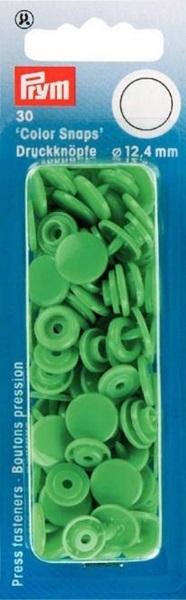 Prym - Druckknöpfe Color Snaps rund 12.4mm - Hellgrün