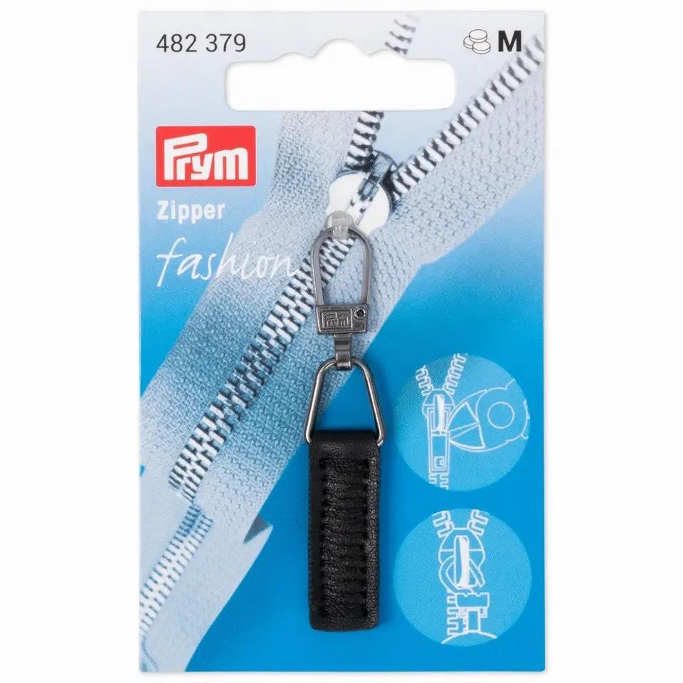 Prym Fashion Zipper - Lederimitat - schwarz - 482379