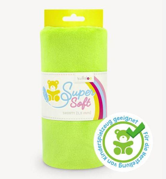 Kullaloo - Super Soft Plüschstoff - Shorty 1,5mm - Limes