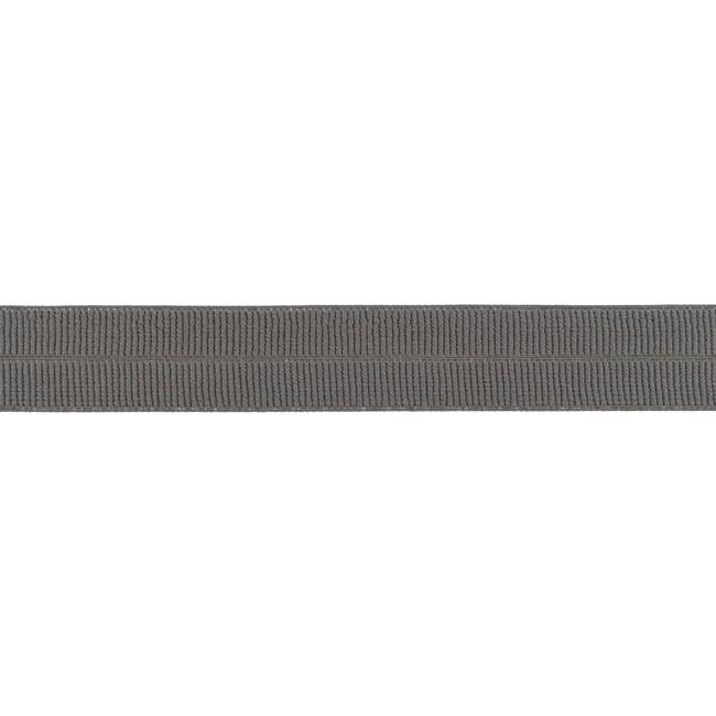Elastisches Einfassband matt - Dunkeltaupe