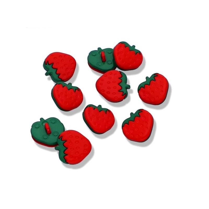Knopf - Knöpfe - Erdbeere - 16mm - 1 Stück