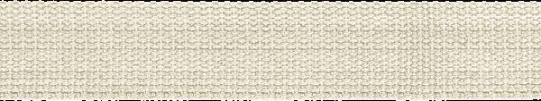 Hochwertiges Gurtband Baumwolle - Baumwollgurtband - 40mm - Ecru