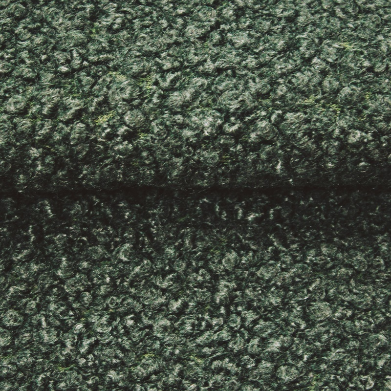 Mantelstoff - Wollstoff - Lammfell-Look - Waldgrün
