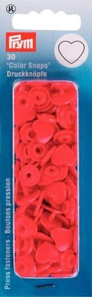 Prym - NF Druckknöpfe Color Snaps Herz - Rot