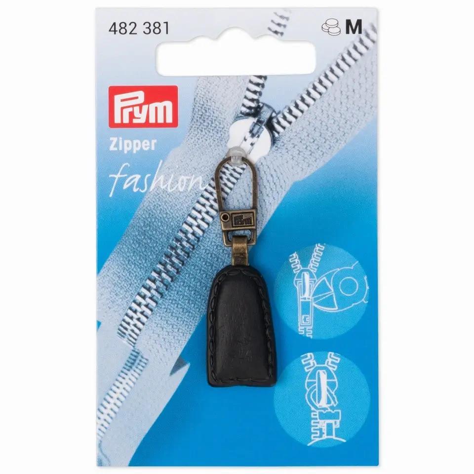 Prym Fashion Zipper - Lederlook - schwarz - 482381