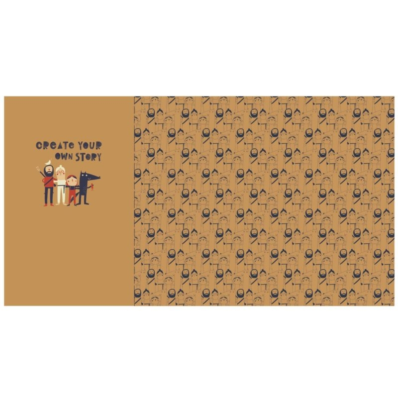 Katia Fabrics - Jersey - Baumwoll  Jersey Stoff - Panel - Chaperone Rouge - Panel 78cm x 145 cm - Ocker